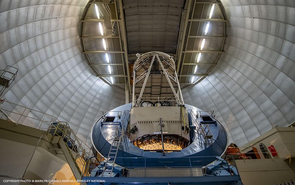 « Première lumière » pour l'instrument spectroscopique pour l'énergie noire, DESI (Dark Energy Spectroscopic Instrument)